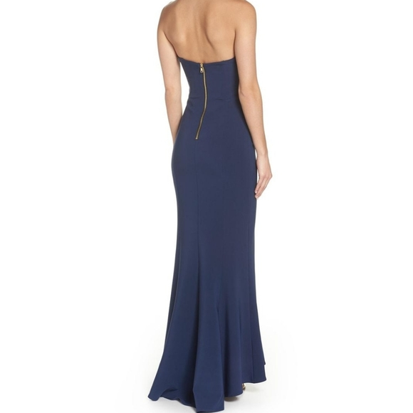 Maria Bianca Nero   Navy Mermaid Gown Size 12 NWT*